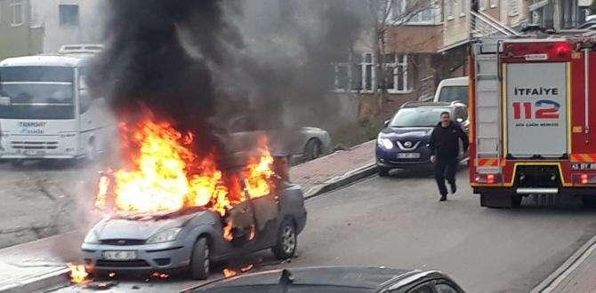 Gebze de  Alev Alev Otomobil Yandı