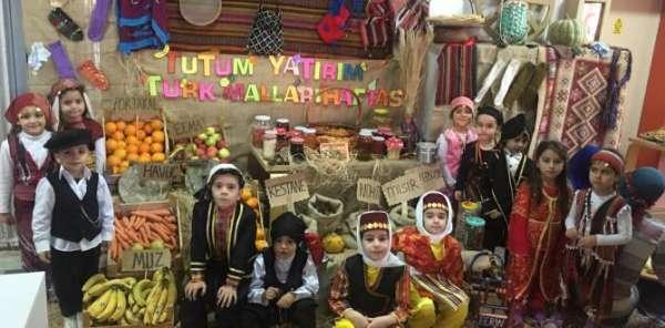 Mehmet Alp Tiryaki Oğlu ana sınıfı öğrencileri Yerli Malı Haftasını görsel şölenle kutladı.