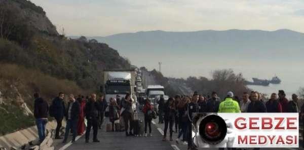 Kaza yapan Suriye uyruklu tır şoförü