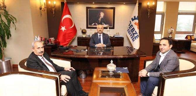 Başkan Büyükgöz'e Hakkari'den konuk başkan