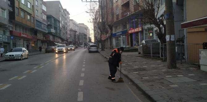Gebze'nin Cadde ve sokakları her gün temizleniyor