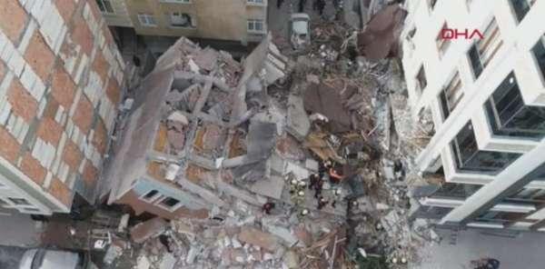 İstanbul da Bulunan Bina Çöktü