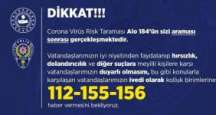 Korona Virüsü İçin Geliştirilen Hizmet Alo 184