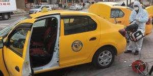 Darıca Belediyesi taksileri dezenfekte ediyor