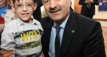 Kaymakam Güler ve Başkan Büyükgöz  Adem Yavuz Okulunda