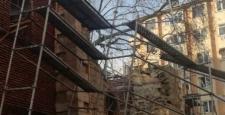 Urgancı Ahmet Çelebi Caminin duvarı aşırı yağıştan dolayı yıkıldı