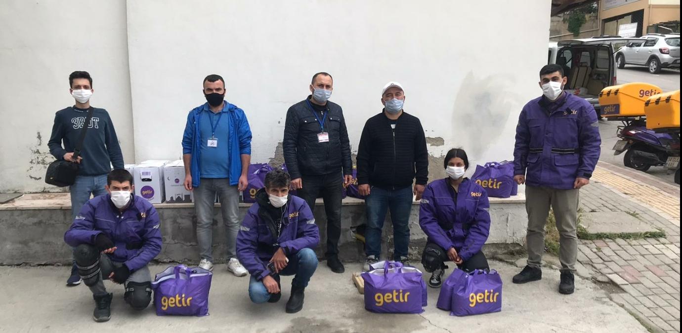 Almanyadaki yardımseverler GETİR vasıtasıyla yardım ettiler.