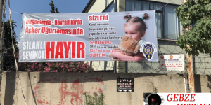 Darıca Emniyet Müdürlüğü Silaha Hayır Sloganı