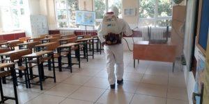 Gebze'de Okullar Dezenfektan Çalışmaları Başladı